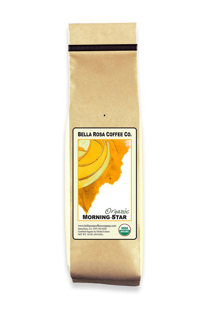 Bella Rosa Organic Morning Star, Whole Bean, 16 oz.