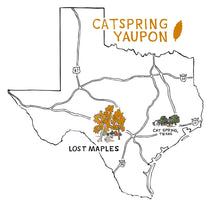 CatSpring Yaupon - Lost Maples Medium Roast Black Yaupon Tea - Loose Leaf - Naturally Caffeinated, Herbal and Sustainable - Yaupon Black Tea Grown, Harvest and Made in the USA {2 oz.} 2 Ounce