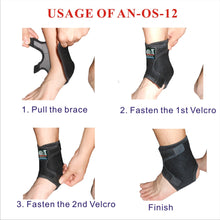 IRUFA, AN-OS-12, 3D Breathable Adjustable Spacer Fabric Ankle Wrap for Sport, Running, Basketball and Pain Relief of Sprains, Strains, Arthritis and Torn Tendons in Foot and Ankle