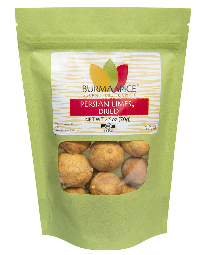 Dried Persian Limes, Whole | (Limu Omani) | Ideal for Seasoning Meat and Fish. 2.5 oz. 2.5 Ounce
