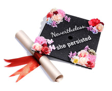 GradWYSE Handmade Graduation Cap Topper Graduation Gifts Graduation Cap Decorations, Nevertheless She Persisted Black