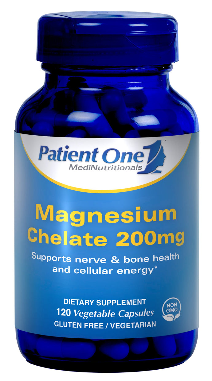 Patient One Magnesium Chelate 200mg - 120 Vegetable Capsules