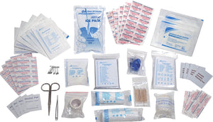 First Aid Kit Refill - 100 Piece - Extra Replacement Supplies for First Aid Kits, Loose Packed Restock Supply Pack