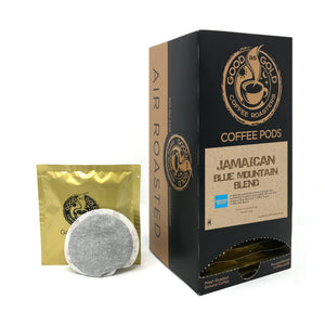 BLUE MOUNTAIN COFFEE PODS, JAMAICAN BLEND - Good As Gold Coffee - (1 Box / 18 Coffee Pods)