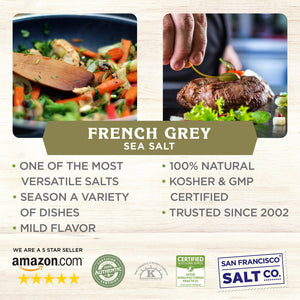 8 oz. Chef's Jar - French Grey Sea Salt - Sel Gris by San Francisco Salt Company