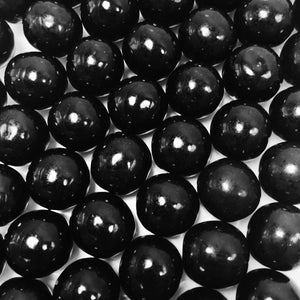 "Large Black Gumballs - One Inch in Diameter - 2 Pound Bag - About 120 Gumballs Per Bag - Includes ""How to Build a Candy Buffet"" Guide"