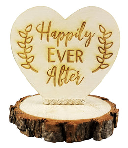 Happily Ever After Wood Rustic Wedding Cake Topper Happily Ever After Rustic Wedding Cake Topper