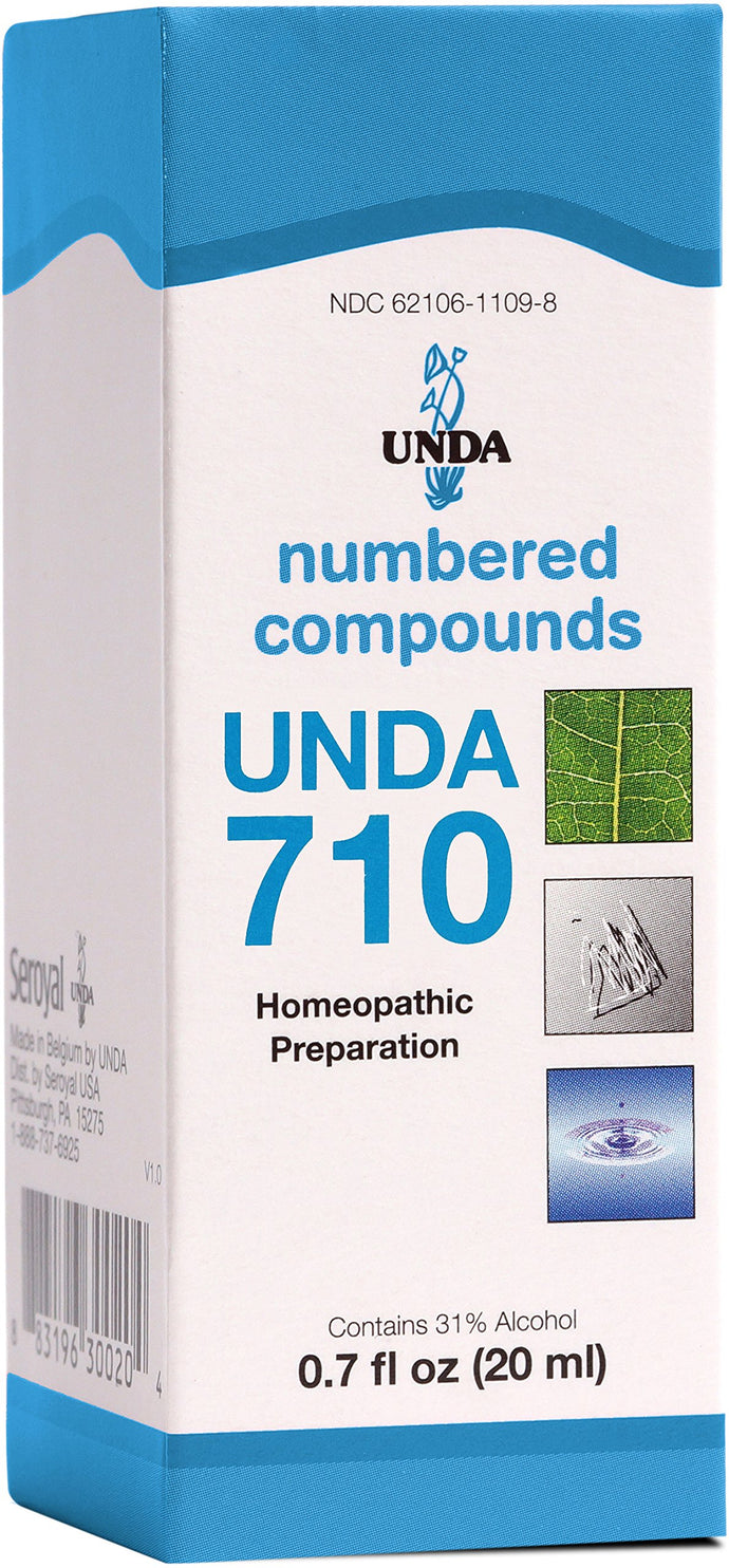 UNDA - UNDA 710 Numbered Compounds - Homeopathic Preparation - 0.7 fl. oz.