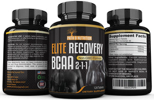 Powerful 4000mg Elite Recovery BCAA Capsules 2-1-1 Pre and Post Workout Branched Chain Amino Acids