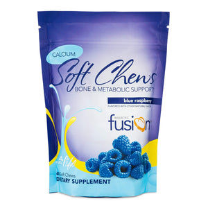 Bariatric Fusion 500mg Calcium Citrate & Energy Soft Chew Blue Raspberry Flavor for Bariatric Surgery Patients Including Gastric Bypass and Sleeve Gastrectomy, 60 Count, Sugar Free, Made in The USA