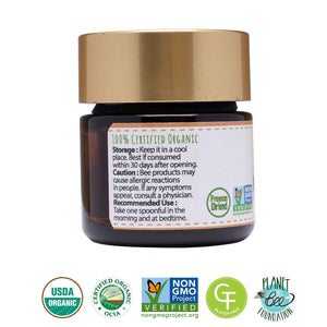 GREENBOW Royal Jelly Powder– 100% USDA CERTIFIED ORGANIC Royal Jelly, Gluten Free, Non-GMO Royal Jelly, Freeze Dried – One of The Most Nutrition Packed Diet Supplements –No Additives/Flavors (17g) 17g