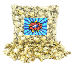 Funtasty Gold Foiled Hard Candy Buttons, Orange Flavor Bulk Pack, 2 Lbs