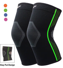 Premium Knee Brace for Arthritis Pain and Support Compression Knee Sleeve Support Knee Pain (Green, Small 2-Pack) Green Small (Pack of 2)