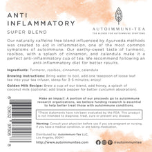 Autoimmune Tea Anti Inflammatory Tea: Autoimmune Protocol blend for Autoimmune Diet; autoimmune paleo and AIP diet herbal tea