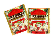 Basilur | Wild Strawberry | Food Service Packs | Single Origin Green Tea with Wild Strawberry | 100% Pure Natural Green Tea | 100 Count Foil Enveloped Tea Bags | Pack of 100