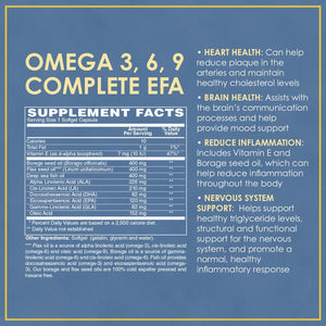Vitamin Discount Center Omega 3-6-9 Essential Fatty Acids, Fish Oil, Cold-Pressed Borage and Flax Seed Oil, 60 Softgels