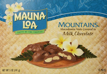 Mauna Loa Mountains Milk Chocolate Covered Macadamia Nuts, 15-Count, 5-Ounce package 1 Box- 15 pieces