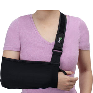 Think Ergo Arm Sling Sport - Lightweight, Breathable, Ergonomically Designed Medical Sling for Broken & Fractured Bones - Adjustable Arm, Shoulder & Rotator Cuff Support (Small/Youth) Small/Youth