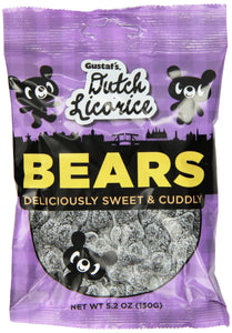 Gustaf's Dutch Licorice, Sugared Licorice Bears, 5.2 Ounce (Pack of 12)