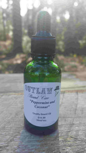 """Peppermint and Coconut"" Beard Oil - Outlaw Beard Care"