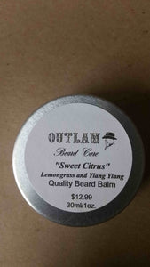 """Sweet Citrus"" Beard Balm (Lemongrass & Ylang Ylang) - Outlaw Beard Care"