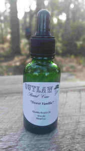"""Sweet Vanilla"" Beard Oil - Outlaw Beard Care"