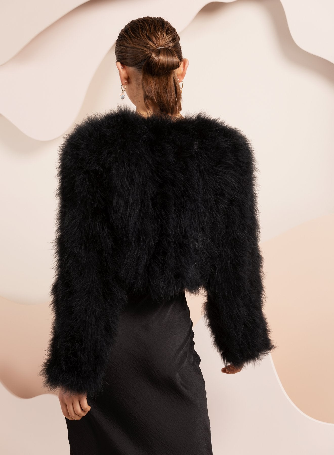 Manhattan Feather Jacket - Black