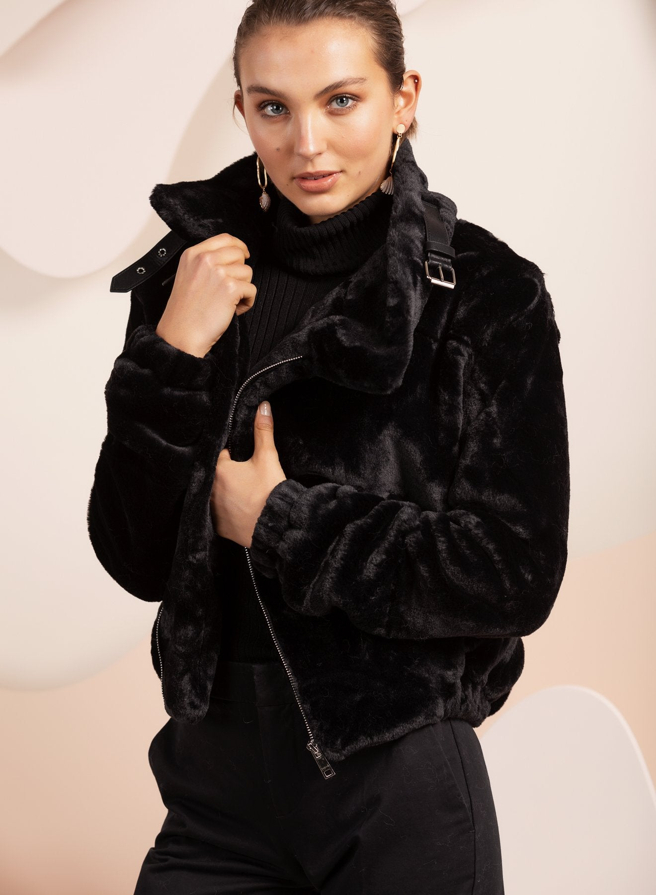 Faux Fur Orlando Black Jacket