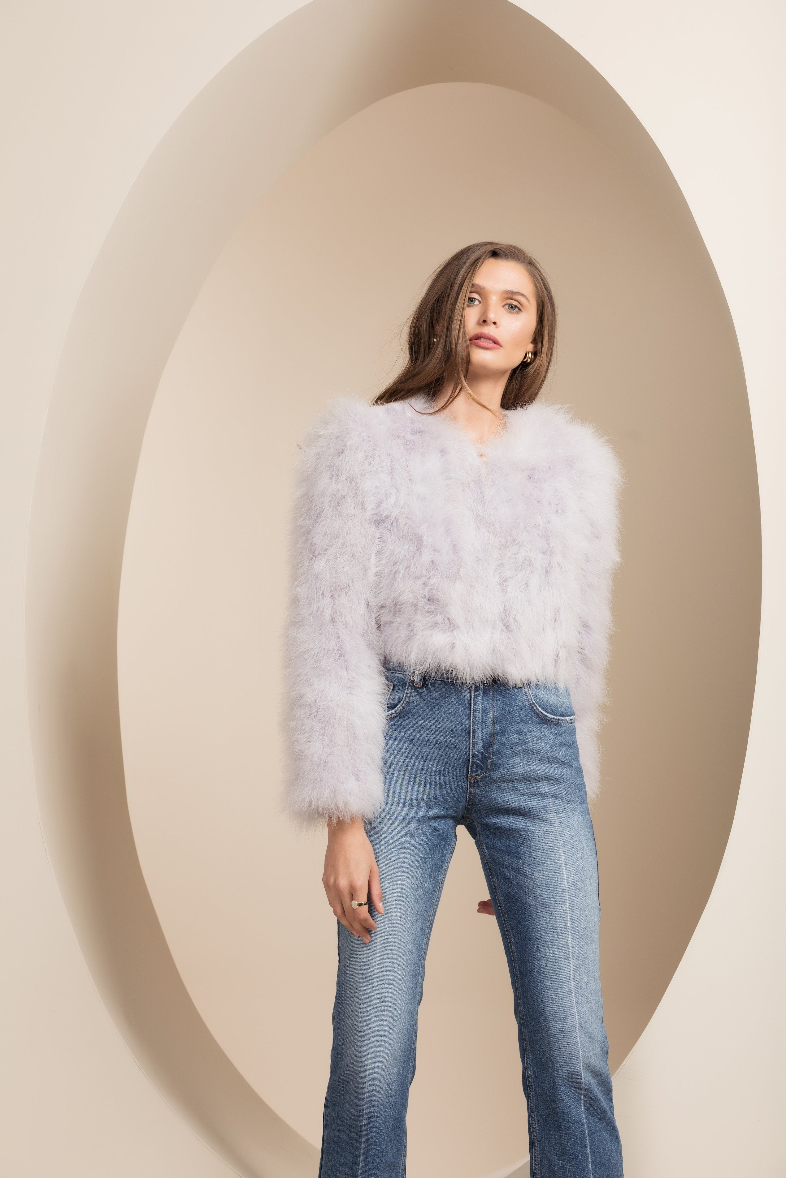 Manhattan Feather Jacket - Lilac