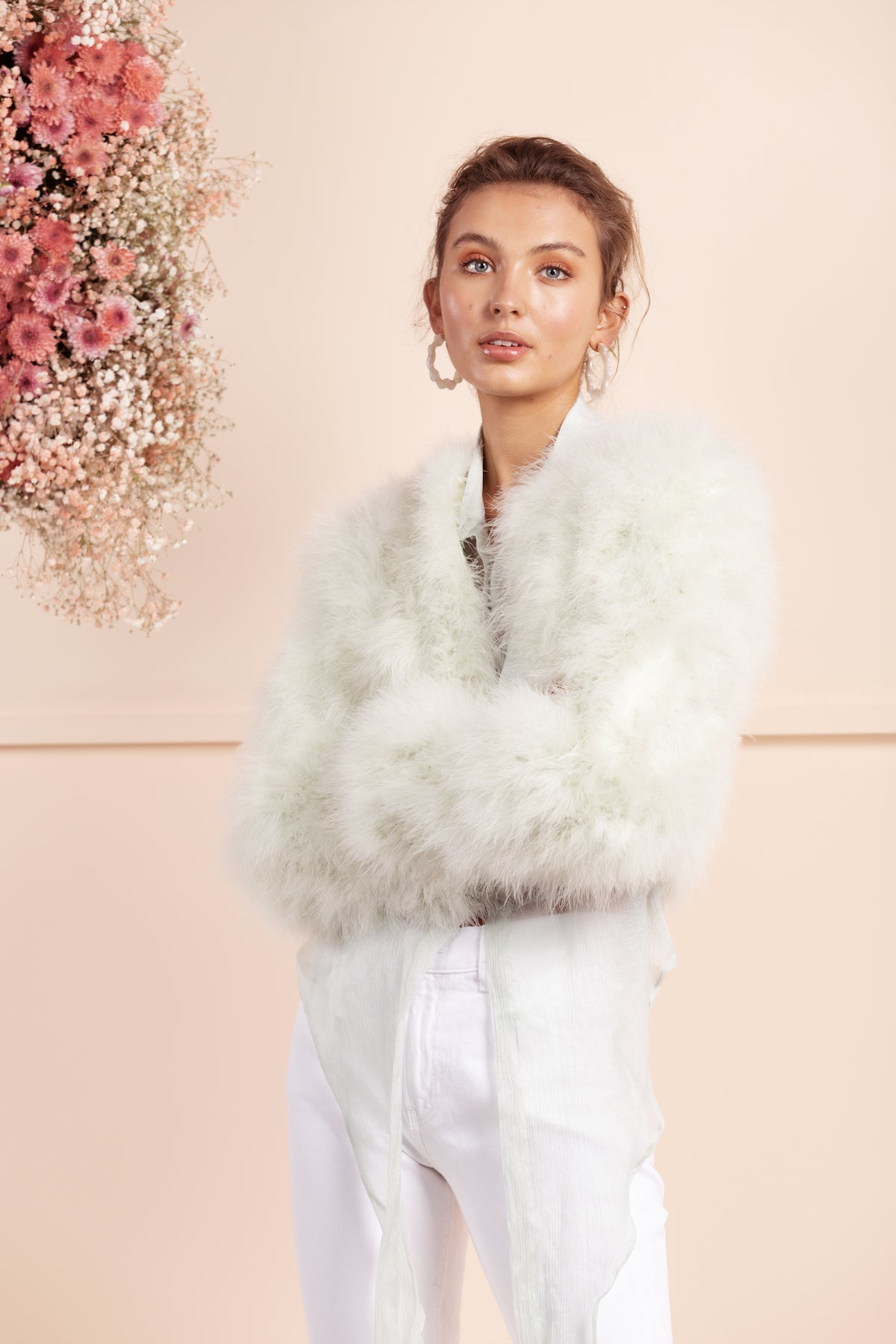 Manhattan Feather Jacket - Mint Green
