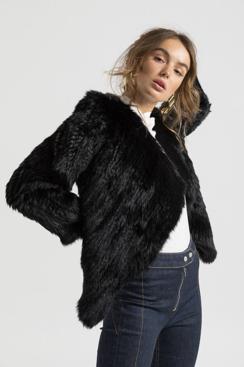Bubish Cropped Back Jacket in Black