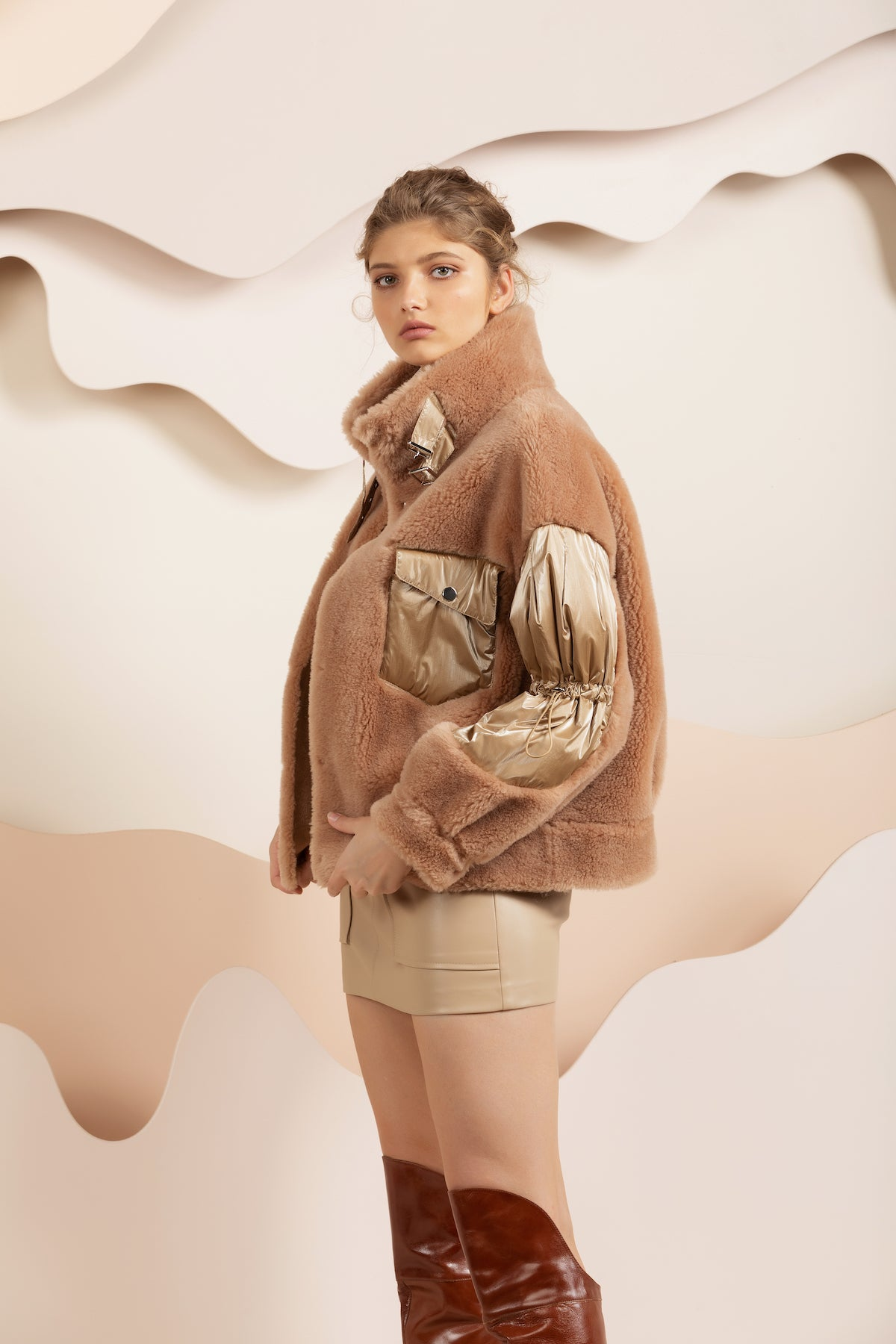 Isla Teddy Jacket - Beige