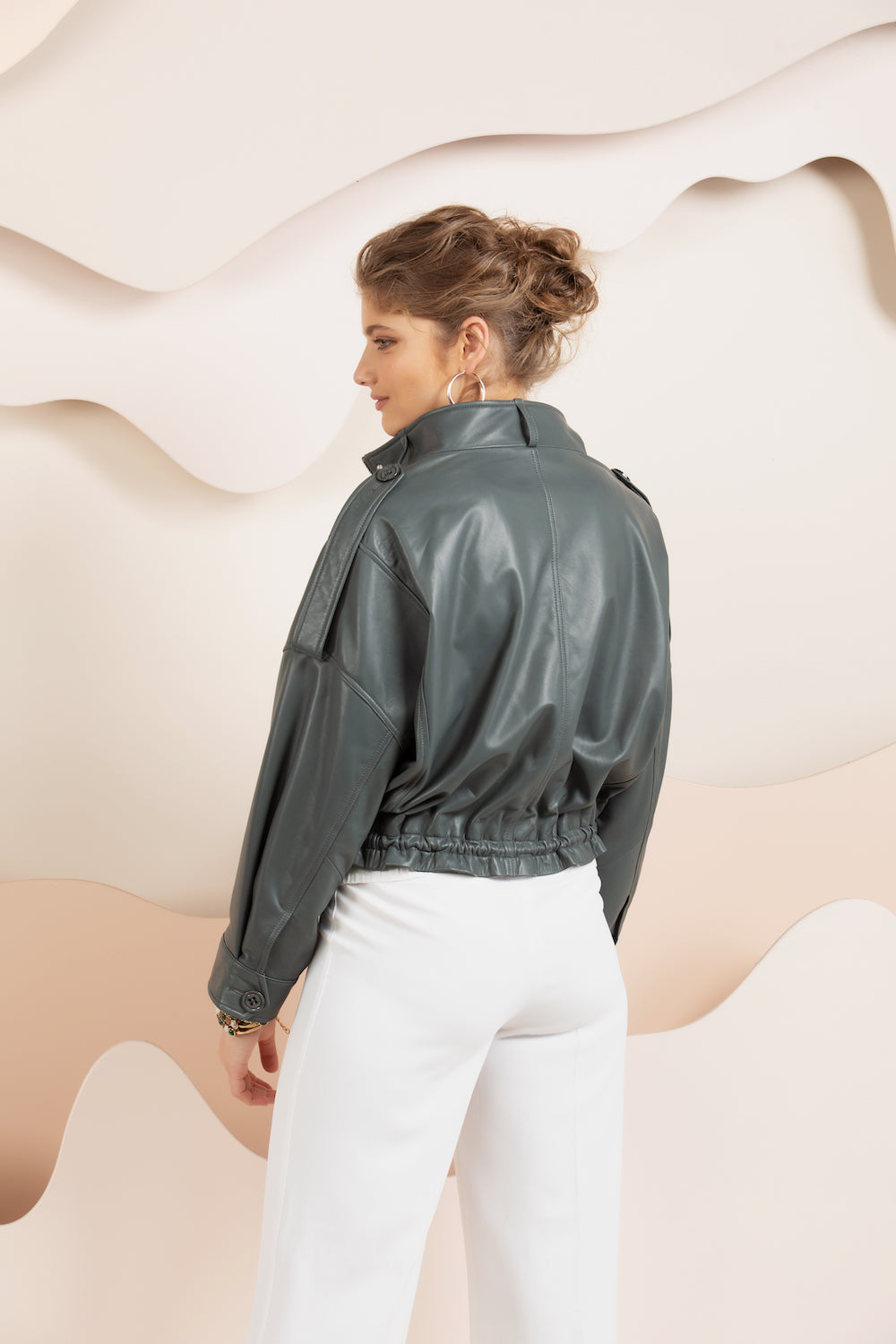Savannah Leather Jacket - Teal