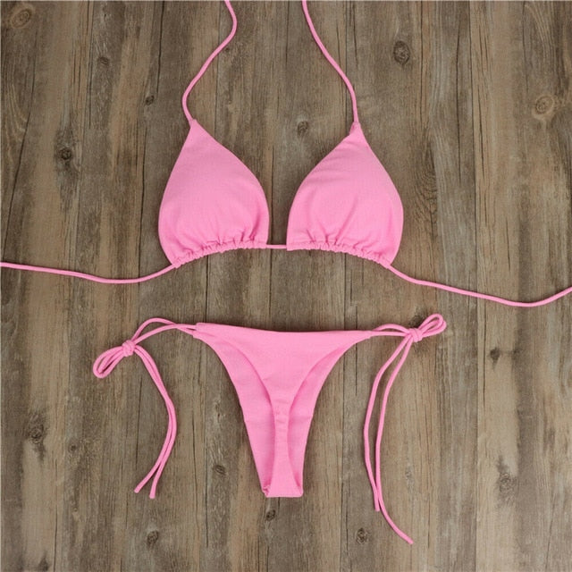 Sexy Women Bikini Brazilian Swimsuit Push-up Bra Bikini Set Two Piece Swim Suit Swimwear Beachwear Bathing Maillot De Bain Femme