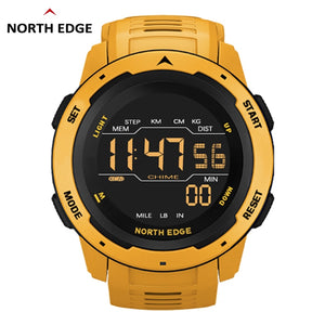 Men Digital Watch Men's Sports Watches Dual Time Pedometer