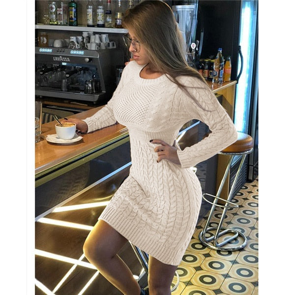 Autumn Winter Sweater Dress