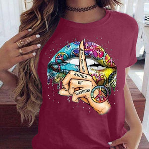 Lips Watercolor Graphic T Shirt
