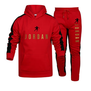 Mens Clothing Pullovers Sweater Cotton Men Tracksuits Hoodie Two Pieces