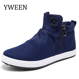 YWEEN Man Canvas Shoes Autumn New Arrival High Style Breathable Casual Shoes For Men Trend Fashion Young Students Shoes