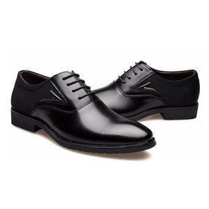 YWEEN Men Dress Shoes, Lace-Up High Quality Oxford Shoes For Men, Fashion Men Business Shoes size eur38-eur48