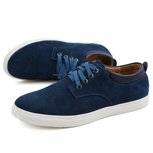 YWEEN Men's Casual Shoes Man Flock Leather Lace-up shoes Man Oxford Big Size Flats Eur38-eur49