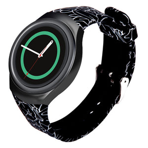New design Black Luxury TPU Silicone Cicret Band Strap For Samsung Galaxy Gear S2 SM-R720 Step Counter Activity Tracker