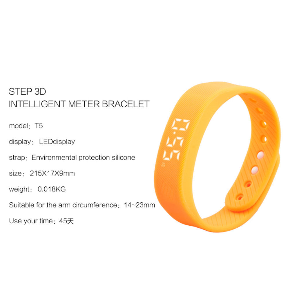 Step Calorie Pedometer Sport Relojes inteligentes LED display Elegante pulsera   Activity Tracker Health