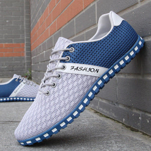 Mermak Men's Fashion Shoes Summer Zapatos Casual Breathable Mesh Flat Shoes Exercise Jogging Breathable Footwear Shoes for Men
