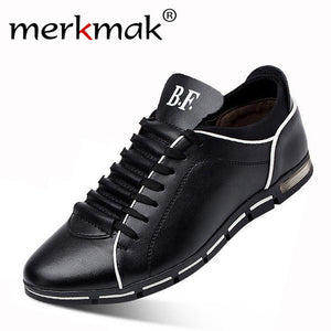 Merkmak Brand Casual Shoes Men Big Size 38-47 Comfortable Spring Autumn Fashion Breathable Soft Leather Shoes for Mens Flats