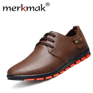New Fashion Men Shoes Genuine Leather Men Flats 2017 Autumn/spring Businessman Leather Shoes Men Loafers Free shipping LS061