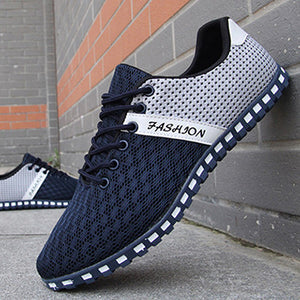 New 2017 Men Shoes Leisure Mesh Shoes Casual Men's Flats Breathable Footwear Spring Summer Male Footwear Drop Shipping LS196