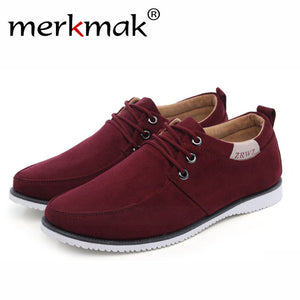Merkmak Trendy Leisure Men Shoes Luxury Brand Breathable Comfortable for Male Footwear Men's Flats Shoes Drop Shipping