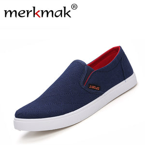 Breathable anti slip men casual canvas shoes