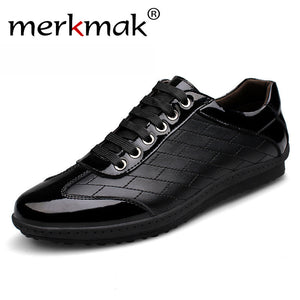 Top quality handmade men genuine leather shoes black mens fashion footwear Brand new driving casual shoes autumn spring flats